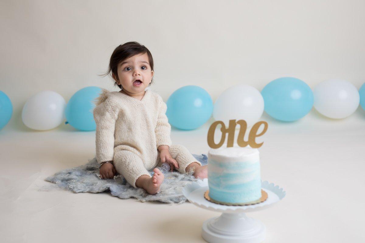 cake smash photography san jose