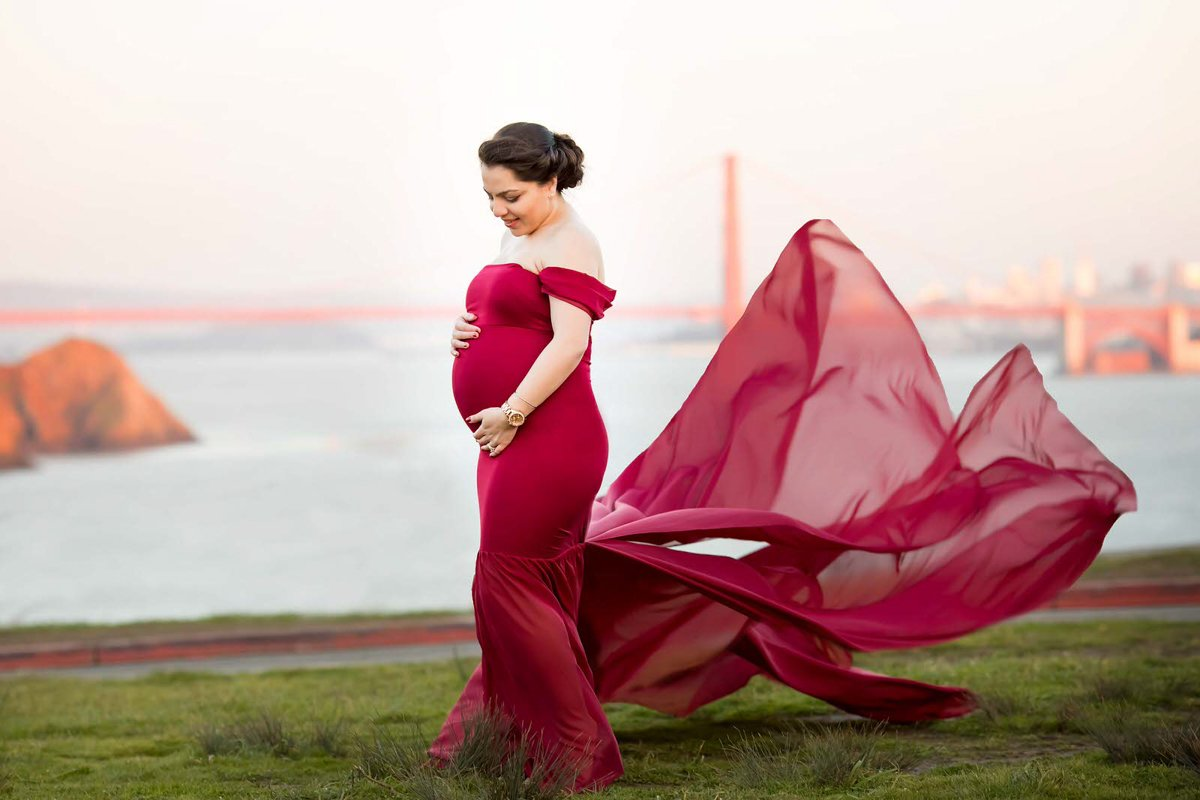 golden gate SF maternity photo shoot