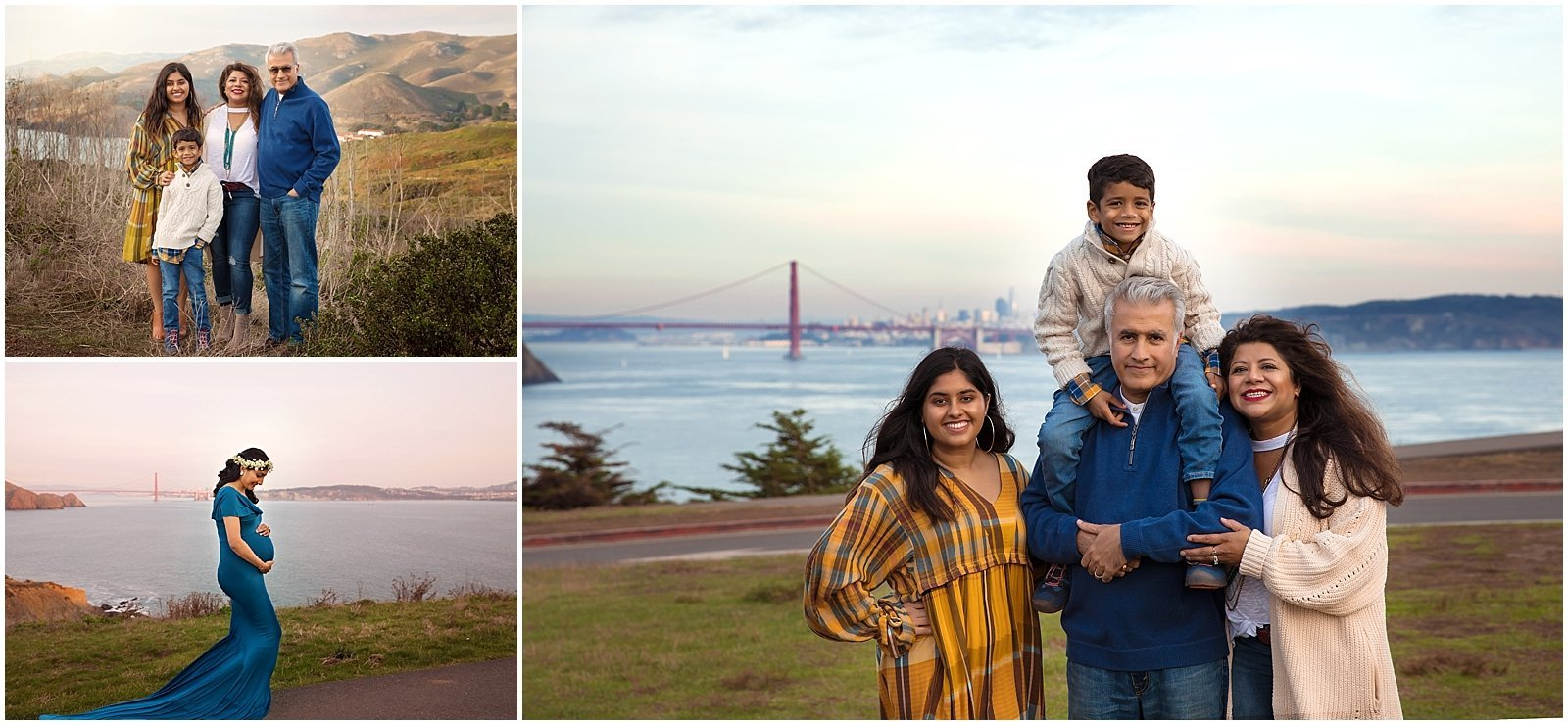 San Francisco Family Photographer Family Photographs in front of Golden Gate Bridge
