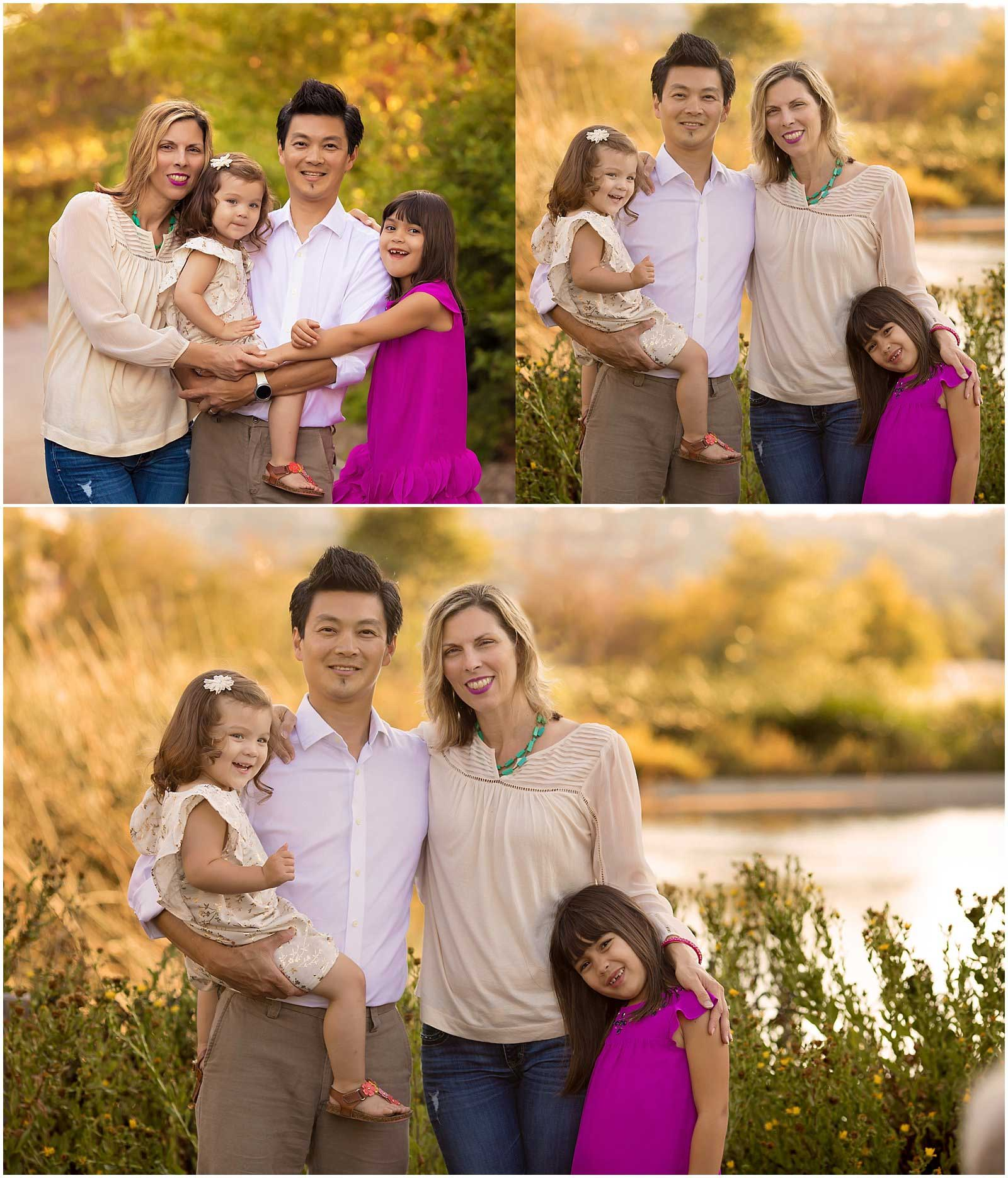 Family Photographs in Bay Meadows Park in Hillsdale at golden hour